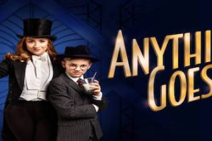 Cartel de Anything goes el musical de Cole Porter en The Other Palace