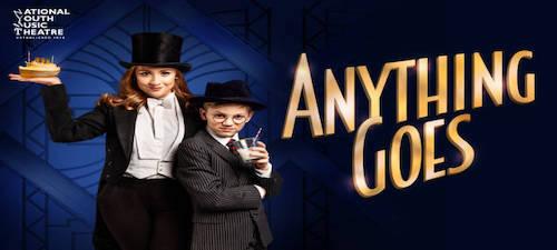 Cartel de Anything goes el musical de Cole Porter en The Other Palace